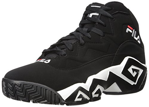 Fila mens Mb Fashion Sneaker, Black/White/Fila Red, 8.5 US