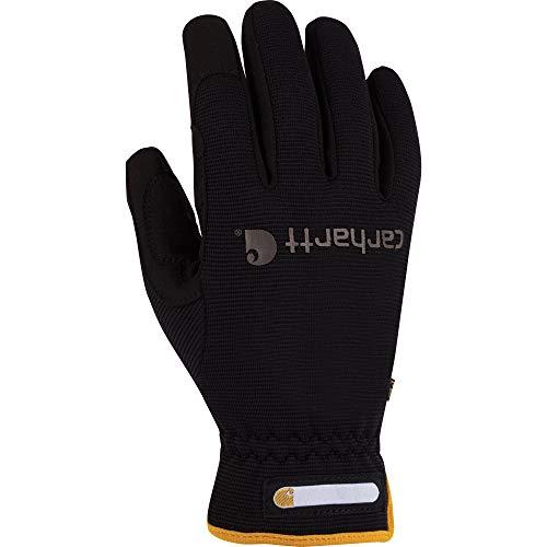 Carhartt Men's Work Flex Spandex Work Glove with Water Repellant Palm, Black, Large