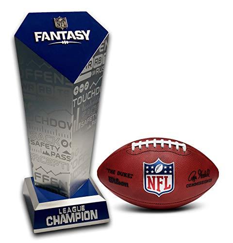UPI Marketing, Inc. 2020 NFL Officially Licensed Fantasy Football Trophy, Silver/Blue, Large (FFLTPHY-40020)
