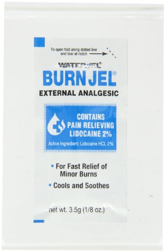 First Aid Only 600U-01 Water-Jel Burn Jel, 1/8 oz Foil Packet (Box of 25)