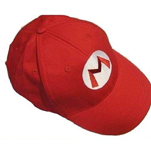 Xcoser Super Bros Hat Baseball Cap Unisex Cosplay Hat Red