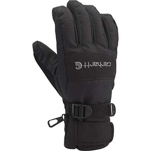 Carhartt Men's W.B. Waterproof Windproof Insulated Work Glove, Black, Large
