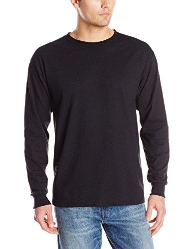 Jerzees Men's Dri-Power Long Sleeve T-Shirt, Black, 3X