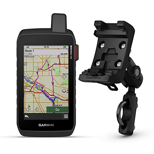 Garmin Montana 750i Rugged GPS Touchscreen Navigator with inReach Technology and North America Maps (010-02347-00) with Garmin Motorcycle and ATV Mount Kit