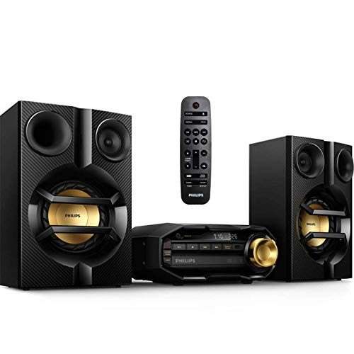 Philips FX10 Bluetooth Stereo System for Home with CD Player , MP3, USB, FM Radio, Bass Reflex Speaker, 230 W, Remote Control Included (Renewed)