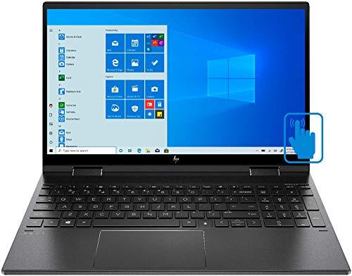 HP Envy x360 15z-ee000 8MF60AV Nightfall Black Laptop (AMD Ryzen 7 4700U 8-Core, 8GB RAM, 256GB SSD, AMD Radeon Graphics, 15.6' Touch Full HD (1920x1080), Active Pen, Fingerprint, WiFi, Win 10 Home)