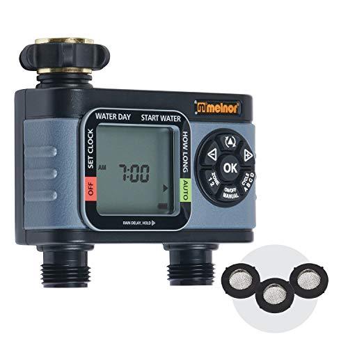 Melnor 65076-AMZ HydroLogic 2-Zone Digital Water Timer with 3 washers Set, Amazon Bundle