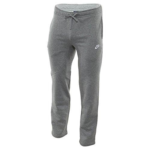 Nike Mens Open Hem Fleece Pocket Sweatpants Light Grey/White 823513-063 Size X-Large