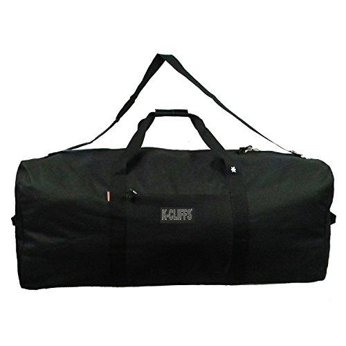 Heavy Duty Cargo Duffel Large Sport Gear Drum Set Equipment Hardware Travel Bag Rooftop Rack Bag (24' x 12' x 12', Black)