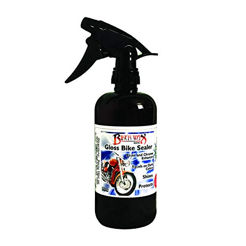 Biker Wax Hybrid Wax Sealant - Top Coat Polish and Quick Coat, Motorcycle Spray Wax with Super Hydrophobic Blend, Infused with Super Polymers for Wet Shine Surfaces, 16 Ounce