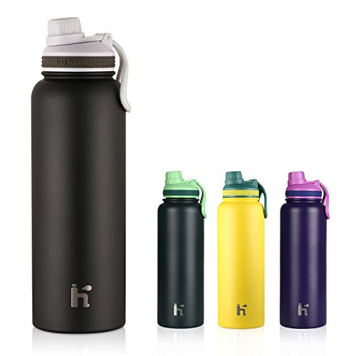 Stainless Steel Double-Walled Vacuum Insulated Containers Keeps Drinks Cold for 24 Hours and Hot for 12 Hours with No Condensation BPA Free Water Bottle 37oz