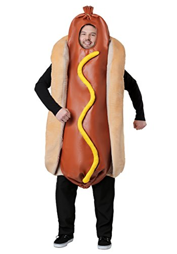 Adult Plus Size Hot Dog Costume Plus Brown