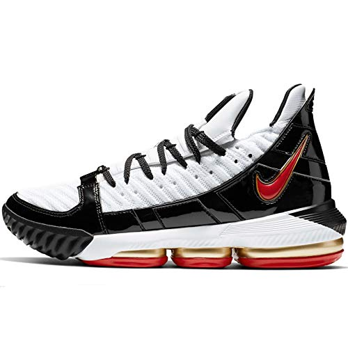 Nike Lebron XVI Sb Mens Cd2451-101 Size 10, White / Comet Red-black
