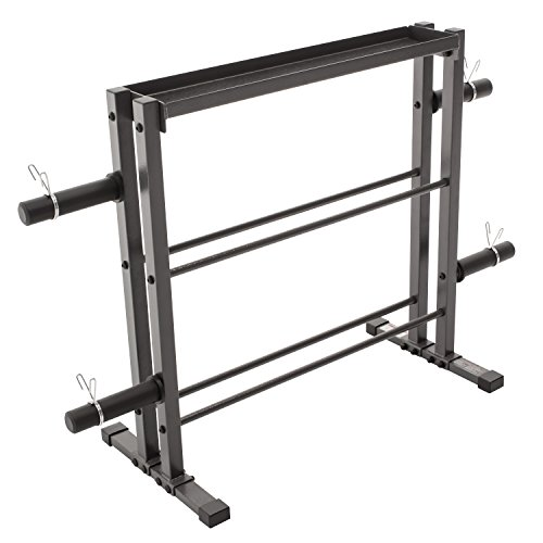 Marcy Combo Weights Storage Rack for Dumbbells, Kettlebells, and Weight Plates DBR-0117