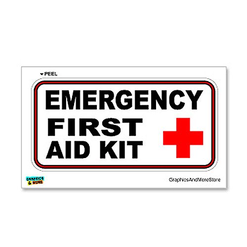 Graphics and More Emergency First Aid Kit - Business Store Sign - Window Wall Sticker