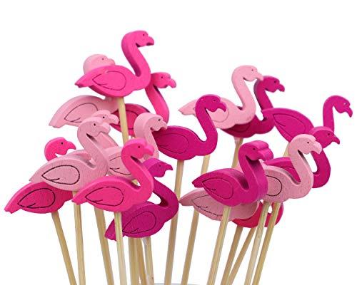 Set of 200 Cocktail picks (Flamingos)