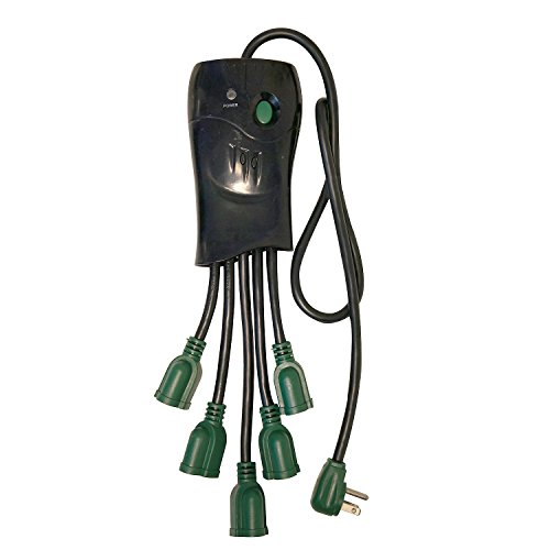 GoGreen Power GG-5OCT - 5 Outlet Surge Protector, Black