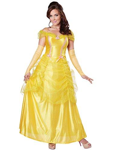California Costumes Women's Classic Beauty Fairytale Princess Long Dress Gown, Yellow, Medium