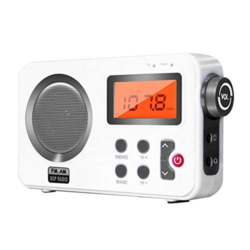 Shower Radio Speaker, AM/FM Radio with LCD Display,Portable Stereo Radio with Earphone Port for Home, Beach,Hot Tub, Bathroom, Outdoor