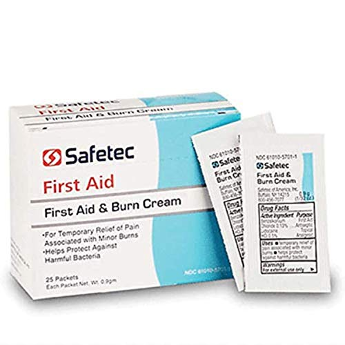 Safetec First Aid & Burn Cream, Box of 25 Packets,267480