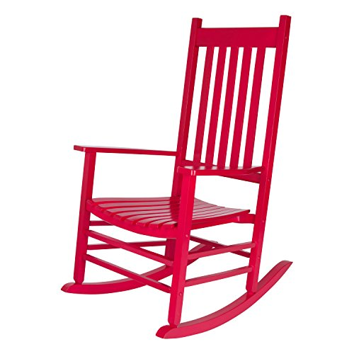 Shine Company 4332CP Vermont Rocking Chair, Chili Pepper