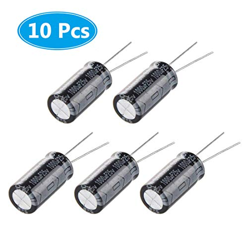 (Pack of 10 Pieces) McIgIcM 1000uf 25V Capacitor, Aluminum Electrolytic Capacitor 1000uf 25v 10x17