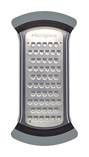 Microplane Mixing Bowl Grater - Extra Coarse Grater for Cauliflower Rice - Black & Grey