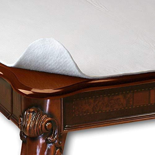 HomeCrate Premium Cushioned Heavy Duty Vinyl Table Pad, 52' x 108', Cream