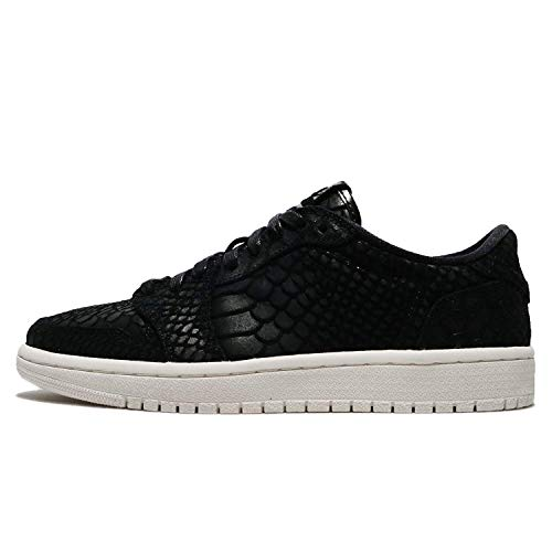Nike Womens AIR Jordan 1 re Fabric Low Top Lace Up Fashion, Black, Size 7.5