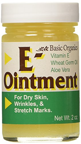 Basic Organics Natural Vitamin E Ointment For Skin, 2 Ounce, Pack of 3