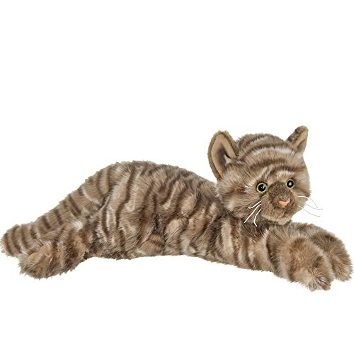 Bearington Louie Plush Stuffed Animal Brown Striped Tabby Cat, Kitten 15'