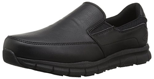 Skechers for Work Men's Nampa-Groton Food Service Shoe,black polyurethane,10 M US