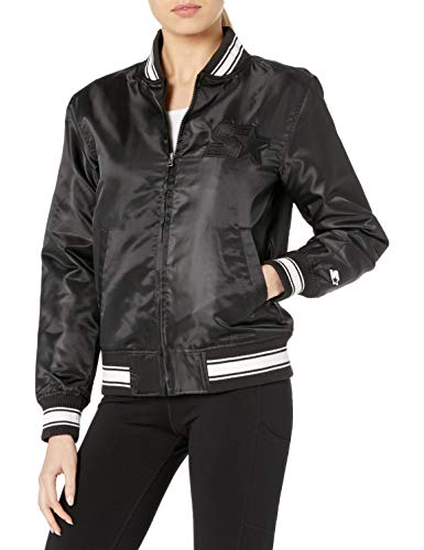Starter Women's Insulated Bomber Jacket, Amazon Exclusive, Black, Small