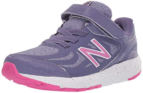 New Balance Kid's 519 V1 Alternative Closure Running Shoe, Violet Fluorite/Clear Amethyst/Carnival, 6 M US Big Kid