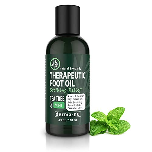 Antifungal Antibacterial Therapeutic Foot & Body Oil - Control Fungus, Athletes Foot and Energize Tired Soles - Soothing Tea Tree, Menthol and Mint – Powerful Antibacterial Essential Oils 4OZ