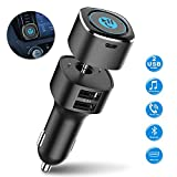 Bluetooth Receiver for Car, Esky Bluetooth 4.2 Hands-Free Car Kits/Bluetooth Aux Car Audio Adapter with Dual 2.4A USB Port Car Charger, Wireless Car Kits Audio Stereo - US Patent No. US 10,272,845 B2