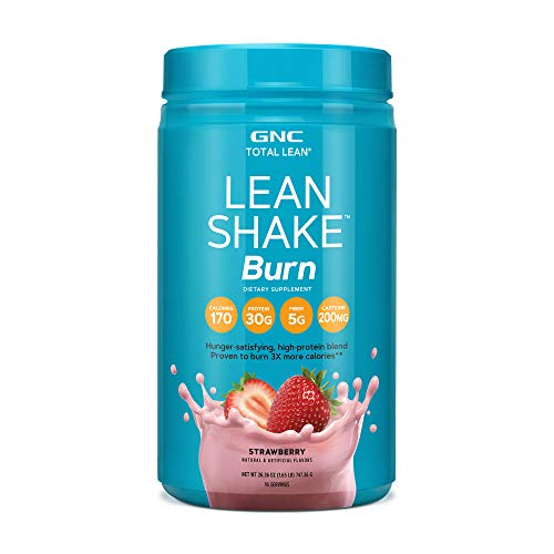GNC Total Lean Lean Shake Burn Protein Powder - Strawberry, 16 Servings, Supports with Weight Loss