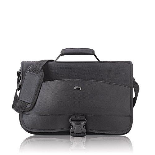 Solo New York Conquer Expandable Messenger Bag, Black
