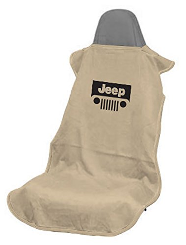 Seat Armour SA100JEPGT Tan 'Jeep with Grille' Seat Protector Towel