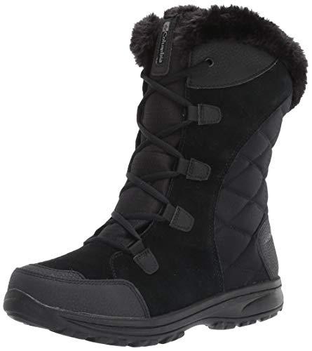 Columbia womens Ice Maiden Ii Snow Boot, Black, Columbia Grey, 10 US