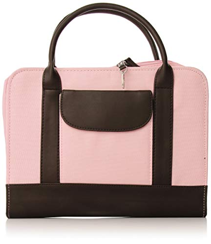 Bible Study Organizer Pink with Leather-Look Accents Book and Bible Cover