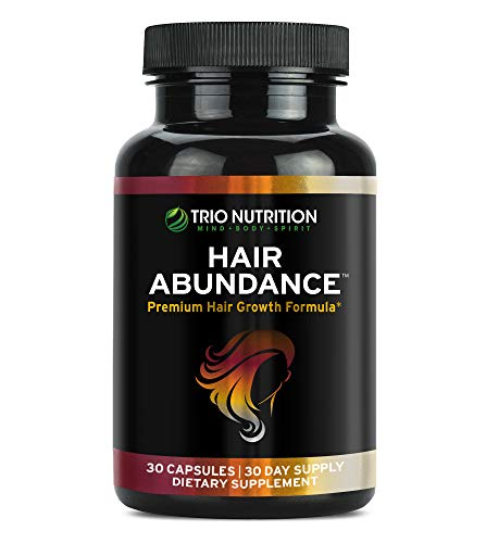Trio Nutrition Biotin 10,000mcg - Hair Growth Vitamins for Stronger and Healthier Hair, Skin and Nails Boosted with Essential Minerals, Collagen and Keratin - Thicker Eyelashes for Women and Men