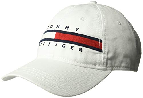Tommy Hilfiger Men's Dad Hat Avery, Classic White, O/S