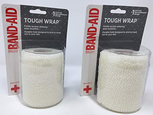 Band-Aid Brand of First Aid Products Secure-Flex Wrap (Tough Wrap) - Large (3 Inches by 2.5 Yards) (Pack of 2)