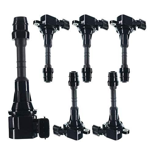 Set of 6 Ignition Coils Pack for Altima Frontier Maxima Murano Pathfinder Quest Xterra Infiniti I35 QX4 Suzuki Equator 3.5L 4.0L
