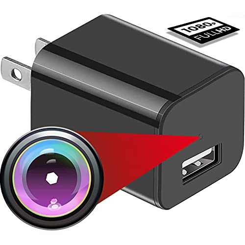 Spy Camera USB Phone Charger by -1080p HD Hidden Camera, USB Charger Nanny Camera |Home, Kids, Baby, Pet Monitoring cam