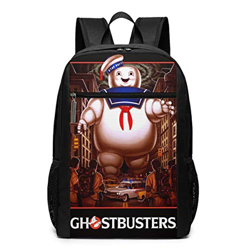 Cheny Ghostbusters VS Stay Puft Poster Lightweight Canvas Travel Backpacks School Book Bag 17 Inch