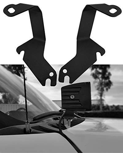 GS Power Engine Hood Cowl Panel LED Brackets for Offroad Ditch Light & Whip Antenna. Compatible with Chevrolet Suburban Tahoe Chevy Silverado & GMC Yukon Sierra 1999-2006 (Also has 2007-2013 Yr)