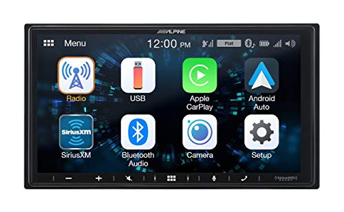 Alpine iLX-W650 7' Mech-Less Receiver Compatible with Apple CarPlay and Android Auto