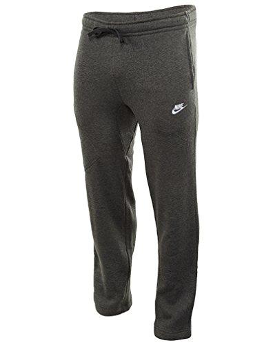 Nike Mens Open Hem Fleece Pocket Sweatpants Dark Grey/White 823513-071 Size Large